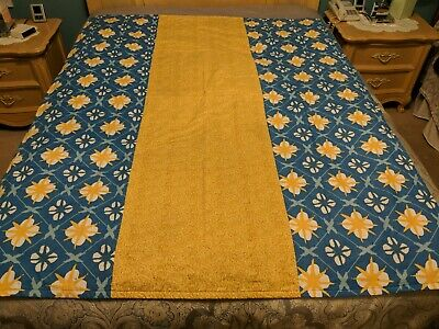 Hand Made Multi Color Quilt Topper