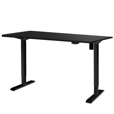 Electric Motorised Height Adjustable Standing Desk - Black Frame with 140cm Blac