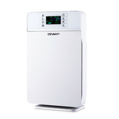 Devanti Air Purifier HEPA Filter 220m³/h CADR Home Freshener Ioniser Odor Dust C