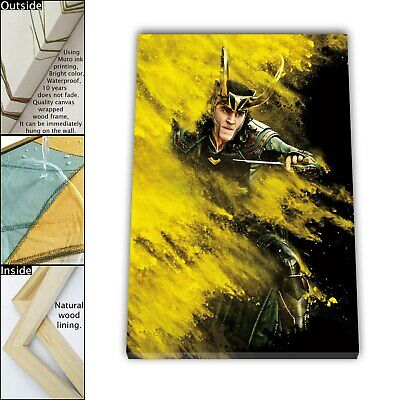 "16""x22""Thor Character 6 Paintings HD Canvas print Framed Home Decor Wall art"