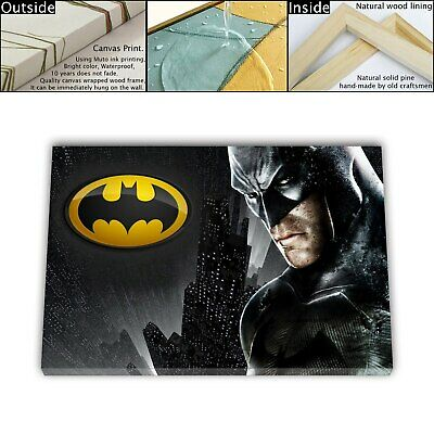 "16""x26""Movies arkham Paintings HD Canvas print Framed Home Decor Wall art photo"