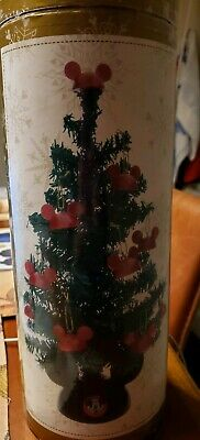 "Disney Parks 12"" Santa Mickey Tabletop Tree Christmas NEW in box"
