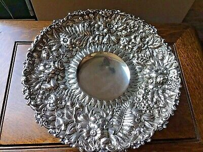 Tiffany & Co 1877 REPOUSSE Floral Fern 570g Sterling Silver Compote Dish NO MONO