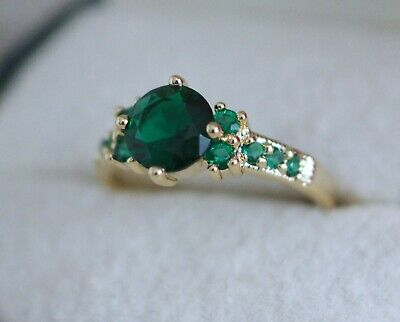 Antique Jewellery Gold Ring With Emerald Vintage Art Deco Jewelry P 8