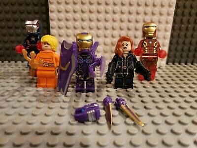Marvel Avengers Minifigures lot 102 End Game Iron Man fits legos War Machine