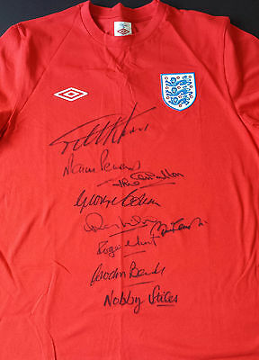1966 WORLD CUP WINNERS Signed ENGLAND Shirt Charlton Hurst Banks Stiles  COA