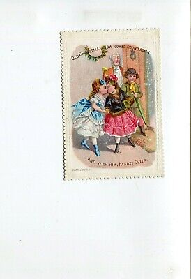 Victorian Greeting Card  Hearty Christmas