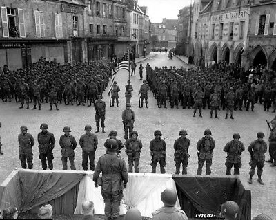 101st Airborne being awarded the Silver Star D-Day 8x10 World War II 2 Photo 676