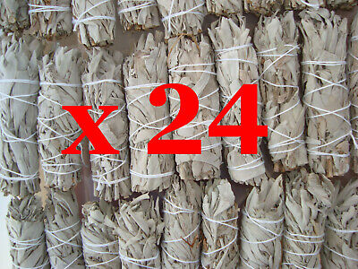 "Smudge Sticks California White Sage - Mini 3.5""- 4"" (9-10cm) - BULK PACK of 24"