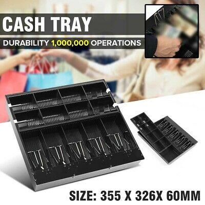Cash Drawer Register Insert Tray Replacement Cashier 5 Bill Box with Metal Clip