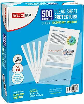 Sheet Protectors, Holds 8.5 x 11 inch Sheets, 9.25 x 11.25 inch Top Loading,