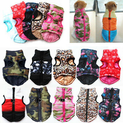 Dog Coat Jacket Pet Supplies Clothes Winter Warm Apparel Clothing Puppy Costume