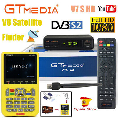 GTMedia V7S HD Satellite Receiver DVB-S2 PVR Full HD V8 Signal Finder USB Wifi