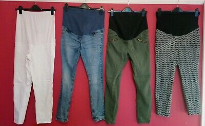 4x Size 10 Maternity Trousers Bundle H&M Blooming Marvellous George