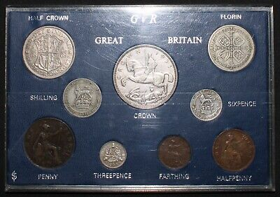 George V Farthing To Crown Type Set w/Silver | Coin Sets | KM Coins