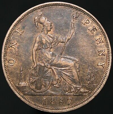 1887 | Victoria One Penny | Bronze | Coins | KM Coins
