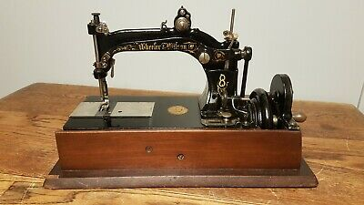 Antique 1880's WHEELER and WILSON No.8 Sewing Machine WORKING CONDITION