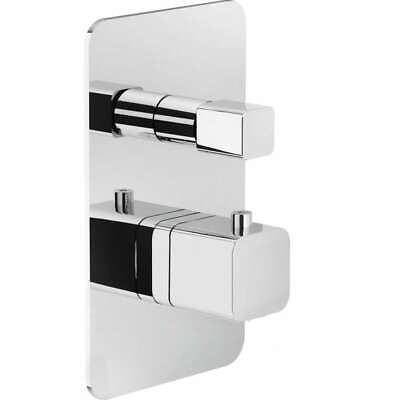 Loop Part External Mixer Thermostatic Recess Shower with Diverter Chrome N