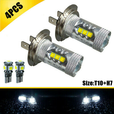 Ford Mondeo Mk3 00-07 H7 7000lm LED Headlight upgrade Sidelight Number plate