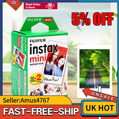 20Shots Fuji Film Instax Mini Fujifilm Mini 9 8 7s Mini 90 50 Camera UK INSTOCK