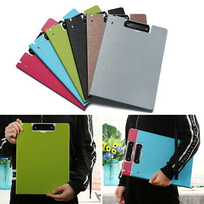 Storage Plastic Foldover Filing Clip Folder Boards Clipboards Writing Pad