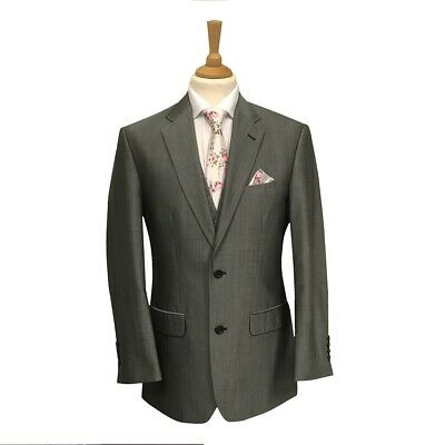 Mens Silver Mohair Suit Jacket - Wedding / Formal - Matching Trousers available