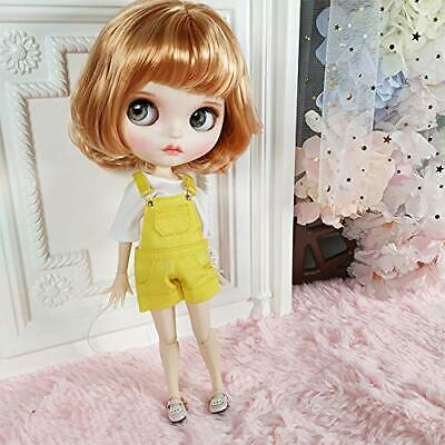 Blythe Nude Doll from Factory Gold Short Hair With Make-up Eyebrow Sleeping Eyes