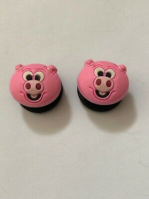 Lot of 2 Authentic Crocs Jibbitz Shoe Charms Pink Pig NEW 2006