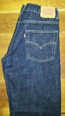 Mens boys Levis 550 relaxed fit denim jeans W28 L28 = 28S Dark blue red tab