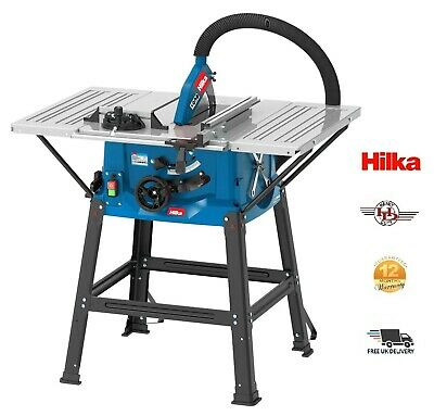 Hilka 1800W 255MM Table Saw Built-in Blade storage and Angle Cutting Stop