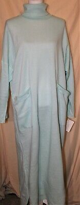 Women's  Teal Turtle Neck Nightgown  B3