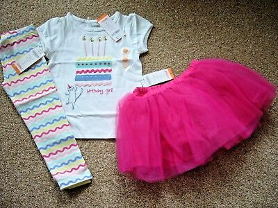 Bnwt Gymboree 2 Years 4 Piece Birthday Girl Set