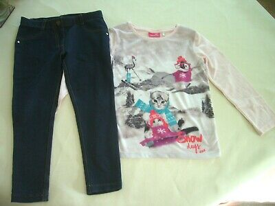 Next 'Snow Days' Xmas Top 5 Years & Stretch Jeggings 6 Years Exc. Cond.