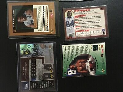 4 card lot Joey Galloway Autograph 1995 SP Premier Prospects #6 UD Star Rookie