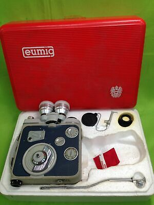 Vintage Movie Collector Eumig C3 M 8mm Film Cine Wind Up Camera Box & Manual#448