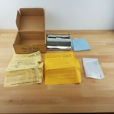 Vintage Glue-Fast BX Label Gluer- Industrial Manual Feed Label Gluer