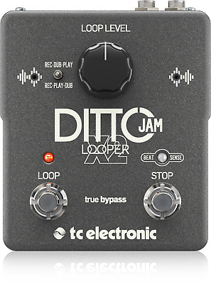 TC Electronic Ditto Jam X2 Looper Pedal with Beatsense Technology + Warranty