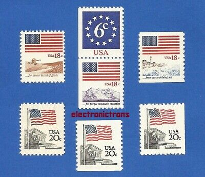 US 1890-1891-1892-1893-1894-1895 & 1896 1981-85 FLAG ISSUE Mint Never Hinged