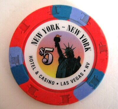 "New York New York $5 ""Statue of Liberty"" Las Vegas Casino Chip Issued in 1997"