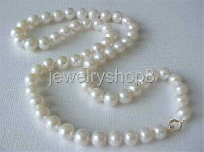 """17.5"""" 7-8Mm Aaa Genuine White Freshwater Pearl Necklace"""