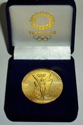 2020 Tokyo Japan Olympic 24K Gold Clad Commemorative Medallion Medal Coin Coa