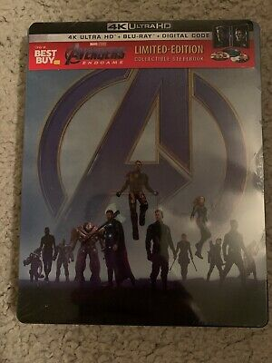 Avengers: Endgame Steel book (4K Ultra HD, Blu-ray, 2019, Limited Edition)