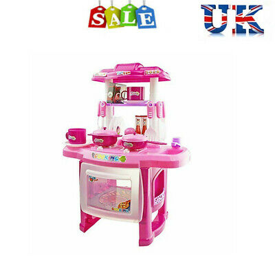 Toddler Kids Girls Cooker Play Set Kit Electronic Kitchen Cooking Toy  XMAS Gift