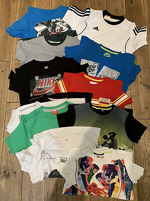 12 T-shirt Bundle Of Boys Clothes 9-10years