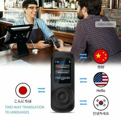 New Smart Voice Translator with 2.4inch HD Touch Screen Support 70 Languages