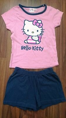 Hello Kitty Pj Pajamas Pyjamas Set Short Sleeved Top + Shorts 4 Years 104 Cm