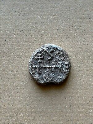 BYZANTINE LEAD SEAL/SIEGEL OF PETER HONORARY CONSUL (7th cent.). A nice piece!