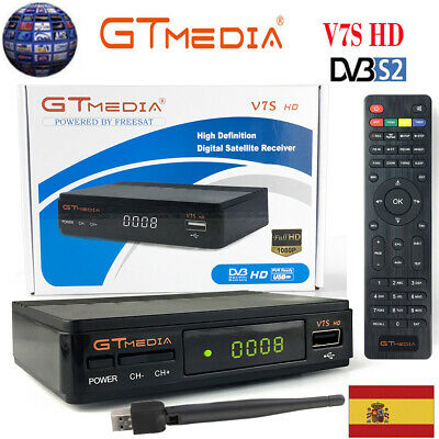 Receptor de TV satelital HD GTMedia V7S DVB-S2 FTA Full 1080P PVR Youtube + Wifi
