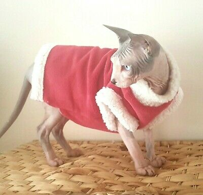 SUPER SOFT Christmas sweater coat top for a Sphynx cat - cat clothes Hotsphynx