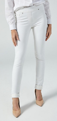Nygard Slims Luxe Denim Skinny Cuff Jeans, Size M, White, NEW